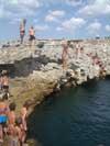мыс Тарханкут в Крыму - прыжки в ванну молодости