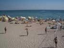 Пляжи Евпатории - волейбол на пляже, сан. Планета