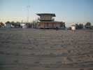 Пляжи Евпатории - пляж санатория Планета после вечерней уборки